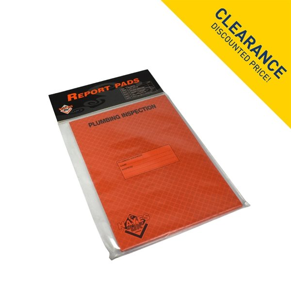 Plumbing Inspection Safety Record Pad